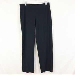 Eileen Fisher Black Pull On Trouser Pants Sz M